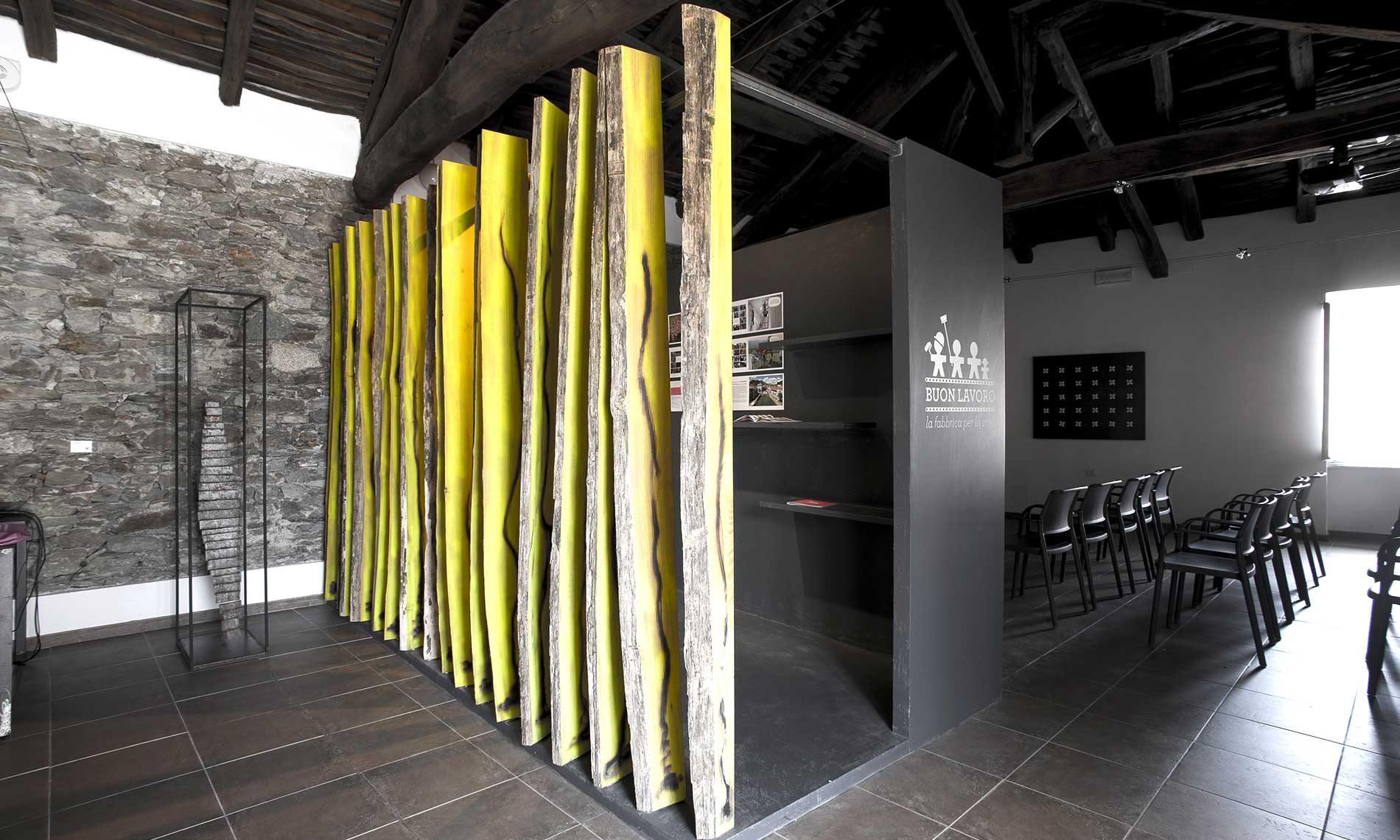 Ristrutturazione dell'ingresso del Museo Tornielli