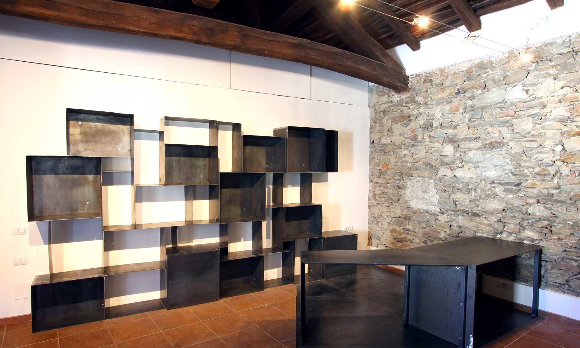 Struttura per bookshop Museo Tornielliuseo