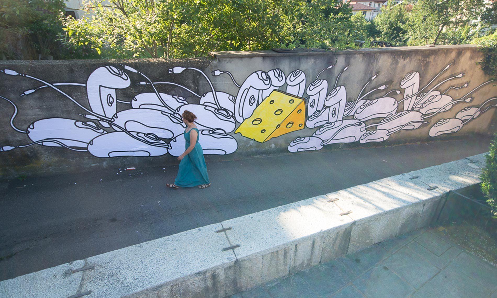 Opera di street art di GEC