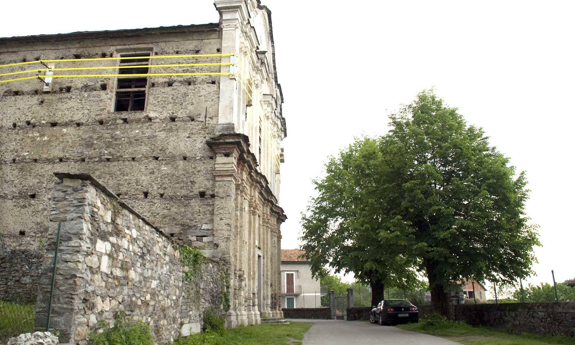 Messa in sicurezza della muratura esterna di SanRocco - Ameno