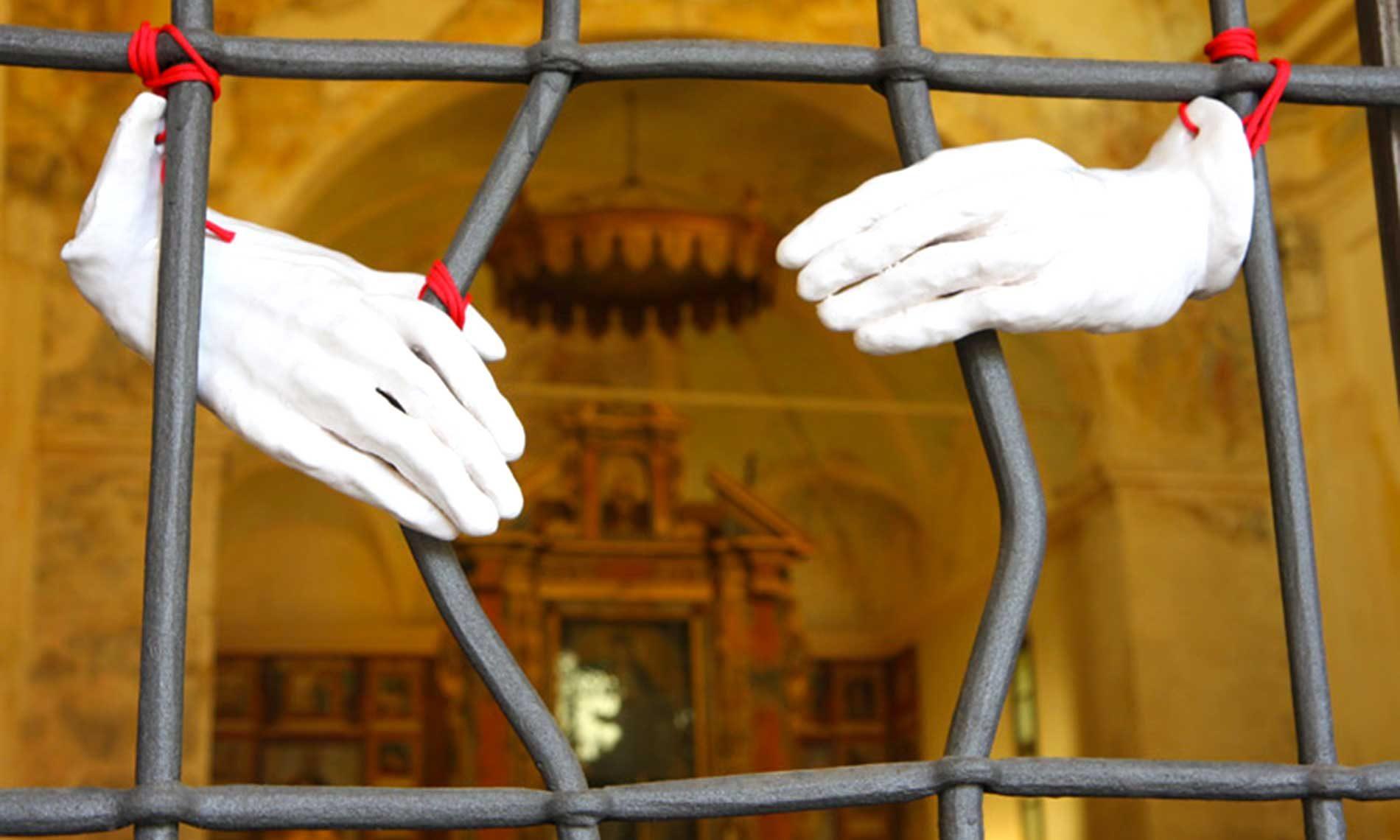 Opera temporanea di Claudia Steiner presso San Bernardino - Ameno